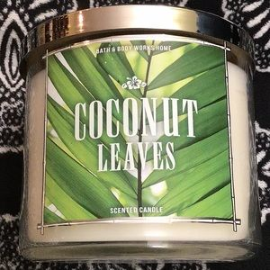 🥥 Bbw coconut leaves candle